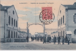 Bv - Cpa LORIENT - Entrée Du Quartier Frébault - Lorient