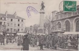 Bv - Cpa LORIENT - Statue Et Place Bisson (Coll. Nouvelles Galeries) - Lorient