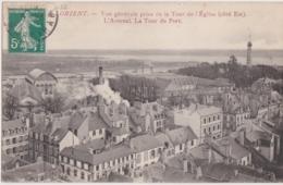 Bv - Cpa LORIENT - Vue Générale Prise De La Tour De L'Eglise (Côté Est), L'Arsenal, La Tour Du Port (Paris Morbihan) - Lorient