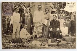 C. P. A. : TAHITI : Iles TUAMOTOU : Pêcheurs Et Pêcheuses De Nacre, Timbre En 1905 - Tahiti