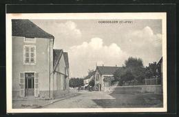 CPA Corgoloin, Vue De La Rue - France