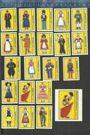 IFA LANDEN PAYS EUROPA EUROPE TRACHTEN COSTUMES FOLKLORE MODE TRADITION Matchbox Labels BELGIUM - Boites D'allumettes - Etiquettes