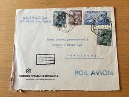 GÄ29533 Spanien 1940 R-Brief Von Barcelona Mit Zensur Nach Würzburg - 1931-Heute: 2. Rep. - ... Juan Carlos I