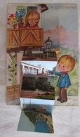 Jolie Cpsm 73 Savoie Aix-les-Bains Carte Illustrateur à Système Dépliant 6 Vues - TBE - Les éditions André, Grenoble - Aix Les Bains