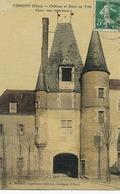 Aubigny Sur Nère Chateau Et Hotel De Ville Colorisée Bacouel Vers Pierson La Chapelotte Cher - Aubigny Sur Nere
