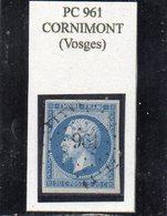 Vosges - N° 14B Obl PC 961 Cornimont - 1853-1860 Napoléon III