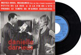 FRENCH EP DANIELLE DARRIEUX - 1964 - B.O.F. MEFIEZ VOUS MESDAMES - PHOTO RECTO DU FILM AVEC PAUL MEURISSE - EXC ETAT - - Musique De Films