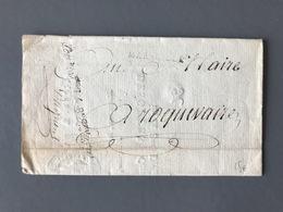 France Lettre Griffe Marseille - 18 Ventôse An 9 (1801) - (B3013) - 1801-1848: Vorläufer XIX