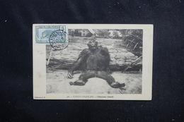 CONGO - Affranchissement De Brazzaville Sur Carte Postale ( Chimpanzé ) Pour La France En 1912 - L 52665 - Briefe U. Dokumente