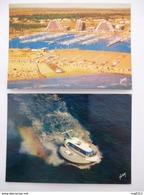 LA GRANDE -MOTTE (34) NAVIPLANE BERTIN Type N 102 Au Port - Promenades En Mer Vers 1970 - LOT De 2 CPM - Voir Les Scans - Hovercrafts