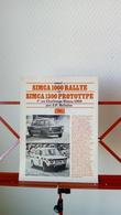 Coupure De Presse Automobile Simca 1000 Rallye Et 1300 Prototype De 1970 - Auto/Moto