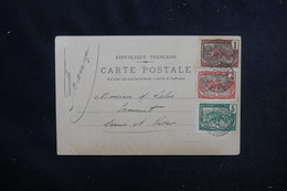 CONGO - Affranchissement Tricolore De Brazzaville Sur Carte Postale ( Femmes ) Pour La France En 1904 - L 52666 - Briefe U. Dokumente