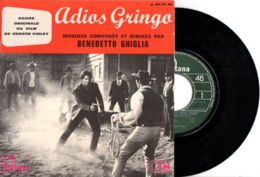 FRENCH EP  B.O.F. ADIOS GRINGO ( WESTERN SPAGHETTI - ITALIE 1965 ) - PHOTO RECTO DU FILM AVEC GIULIANO GEMMA - EXC ETAT - Musica Di Film