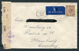 1947 GB Saltcoats, Ayreshire Scotland Censor, McCallum & Sons, Greenock Airmail Cover - Hamburg Germany - 1902-1951 (Rois)