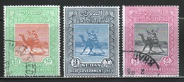 Sudan 1954 Set Of Stamps To Celebrate Self Government. - Soudan (...-1951)