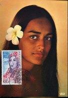 51324 Polynesie Francaise, Maximum 1974  UPU    Girl  Of Tahiti,  Woman - Cartoline Maximum