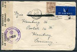 1947(?) GB Hull Censor Airmail Cover - Hamburg Germany - 1902-1951 (Rois)