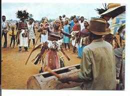 GABON - Fête D'un Village Du WOLEU-NTEM - Ethnique - Danse - Musique Percussion - Tropicolor éditeur N°A153F - Gabón