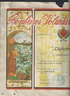 MILITARIA PORTUGAL DIPLOMA BOMBEIROS VOLUNTARIOS ( POMPIERS ) DE VALADORES FONDÉE EN 1914 PLIE VEND EN ETAT : - Pompiers