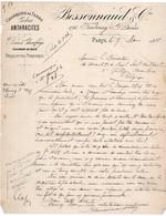 CHARBONS DE TERRE - COKES - ANTHRACITES - BESSONNAUD ET CIE - FAUBOURG ST DENIS - PARIS - ANNO 1888 - France