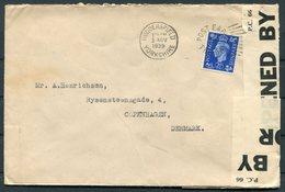 1939 GB Huddersfield, Censor Cover - Copenhagen Denmark. Bower, Roebuck & Co. Limited, Newmill - 1902-1951 (Rois)