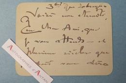 Lucien LEVY-DHURMER Peintre Céramiste Sculpteur (Alger - Le Vésinet) - Rue La Bruyère - Carte Lettre Autographe L.A.S - Autographes