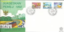 Indonesia 1992 Mi 1410-1412 FDC ( FDC ZS8 INS1410-1412 ) - Famous People