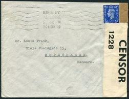 1939 GB Bingley D & R England Ltd, Censor Cover - Copenhagen Denmark. - 1902-1951 (Rois)