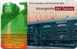Argentina - Telefónica - Railways, Coche Pullman, Chip Gem1A Symmetric Black, 02.1998, 20U, 100.000ex, Used - Argentina
