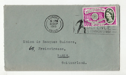 Great Britain Letter Cover Posted 1960 To Switzerland - Europa CEPT Stamp B200210 - 1952-.... (Elizabeth II)