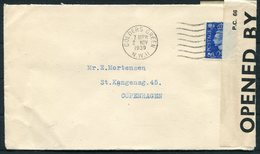 1939 GB Golders Green, Censor Cover - Copenhagen Denmark. Buccleuch Mills, Langholm Scotland - 1902-1951 (Rois)