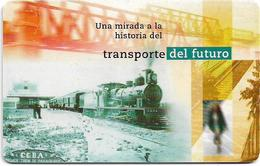 Argentina - Telefónica - Railways, Trén De Pasajeros, Chip Gem1A Symmetric Black, 03.1998, 20U, 100.000ex, Used - Argentina