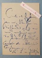 L.A.S Lucien LEVY-DHURMER Peintre Céramiste Sculpteur > CLARETIE - (Alger - Le Vésinet)  Lettre Autographe - Autographes