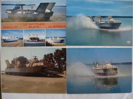 BLAYE (33) : NAVIPLANE BERTIN SEDAM N 300 Ligne Sur LA GIRONDE (1970-75) - LOT 4 CPM Lot 1 - Voir 2 Scans - Hovercrafts