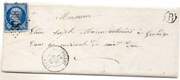 Vosges - LAC Affr N° 22 Obl GC 3938 - Càd Type 15 Le Thillot + Boite Rurale B (= Saint-Maurice) 1863 - Marcophilie (Lettres)