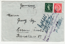 Great Britain Letter Cover Posted 1955 To Germany B200210 - 1952-.... (Elizabeth II)