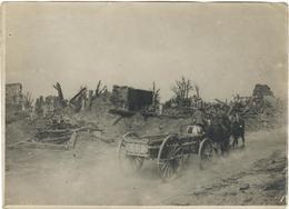 PHOTO FRANÇAISE - CALÈCHE A FERME PORTE A ANTHEUIL PORTES PRES DE RESSONS SUR MATZ OISE - GUERRE 1914 1918 - 1914-18