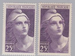 FRANCE :  Marianne De Gandon 731 Neuf XX Variété Oeil Gauche Très Clair  Avec Normal - Abarten: 1941-44 Ungebraucht