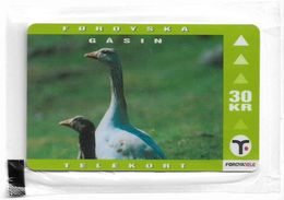 Faroe - Faroese Telecom (Magnetic) - Geese - 30Kr. - 25.000ex, NSB - Faroe Islands