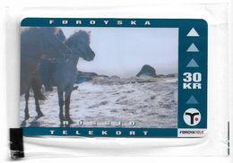 Faroe - Faroese Telecom (Magnetic) - Horse - 30Kr. - 25.000ex, NSB - Faroe Islands