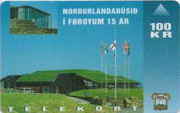 Faroe - Faroese Telecom (Magnetic) - Nordic House 15 Year - 100Kr. - 15.000ex, Used - Faroe Islands