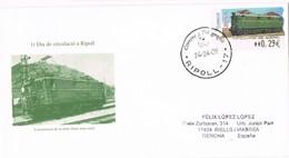 35723. Carta RIPOLL (Gerona)  2006. Ferrocarril, Tren, Locomotora . ATM Ripoll- Tor De Querol - 1931-Hoy: 2ª República - ... Juan Carlos I