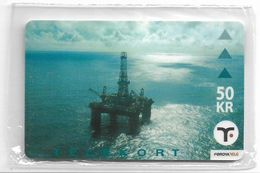 Faroe - Faroese Telecom (Magnetic) - Off-Shore Rig - 50Kr. - 20.000ex, NSB - Faroe Islands