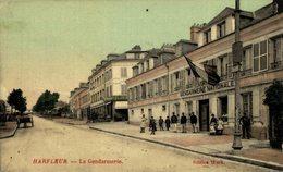 76 Harfleur La Gendarmerie.  Francia. France. - Harfleur