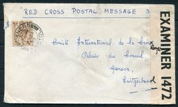 1942 GB Downend Bristol Red Cross Postal Message Scheme Censor Airmail Cover - Geneva Switzerland - 1902-1951 (Rois)