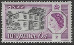 Bermuda. 1959 QEII / Perot's Post Office. 6d MNH. SG 156 - Bermuda