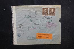 ROUMANIE - Enveloppe Pour La Suisse En 1942 Avec Contrôle Postal , Voir Cachets Et étiquette De Gudo - L 52687 - Storia Postale Seconda Guerra Mondiale