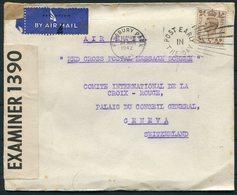 1942 GB Finsbury Park, Red Cross Postal Message Scheme Censor Airmail Cover - Geneva Switzerland - 1902-1951 (Rois)