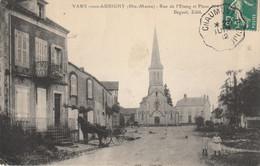 CPA De VAUX-sous-AUBIGNY (Haute-Marne) - Rue De L'étang Et Place De L'église. Editeur Boguet. Circulée En 1912. B état. - France