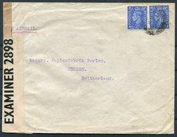1942 GB Porritts & Spencer Ltd, Bury Airmail Censor Cover - Perlen Switzerland. - 1902-1951 (Rois)